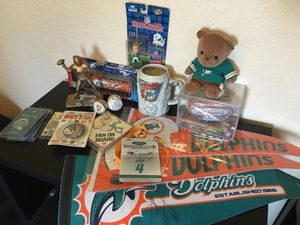 MIAMI DOLPHINS fan memorabilia set! Past and present. Lots of cool collectibles and giveaways! for Sale in Parkland, FL