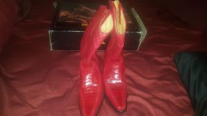 COWBOY BOOTS RED OSTRICH WORN 1 TIME $200 SIZE 13 GREAT DEAL for Sale in Detroit, MI