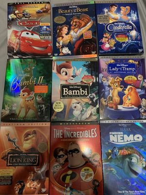 Walt Disney 9 Dvd Lot. Brand New and used for Sale in Roseville, CA