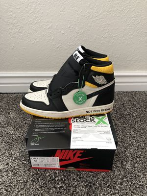 """Air Jordan 1 """"Not For Resale"""" (Maize) Size 9 w/ Receipt for Sale in Broomfield, CO"""