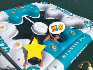 Inflatable Island. Brand new, only used once. In its box. for Sale in Fort Lauderdale, FL
