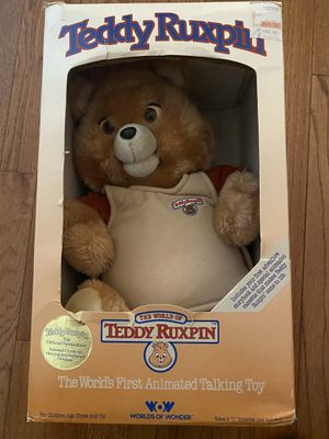 Vintage 1980's Teddy Ruxpin Bear and Accessories for Sale in Irving, TX