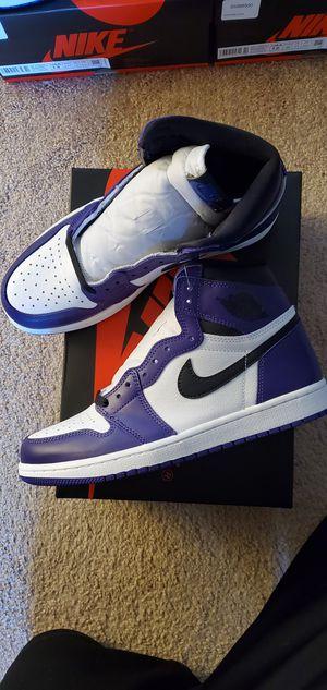 Air jordan 1 retro og court purple for Sale in Torrance, CA