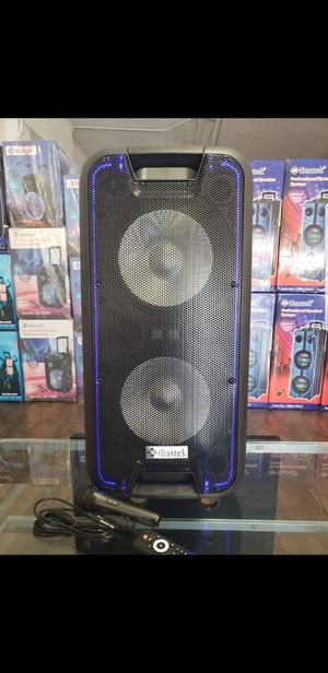 "Bocina Bluetooth !!! Profesional Speaker 2 x 10"" WOOFERS , SUPER POWERFUL BASS 🔊🔊🔊 !!! Rechargeable 🔋+++ 🎤 LED Lights !!! SUPER PARTY SPEAKER for Sale in Los Angeles, CA"