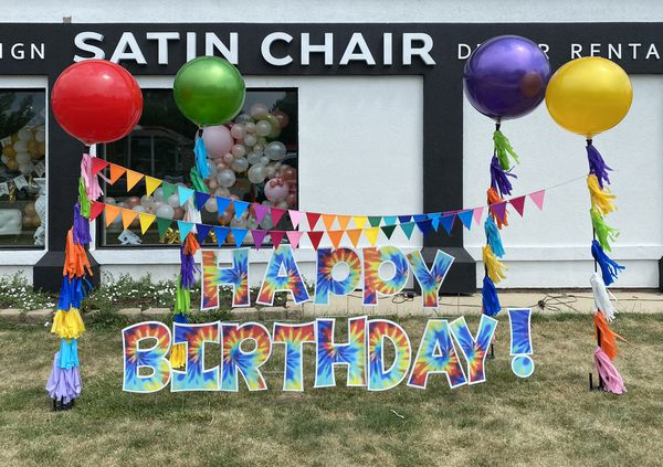 Happy Birthday Balloon Display