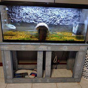 55 Gal Aquarium And Custom Stand for Sale in Inverness, FL