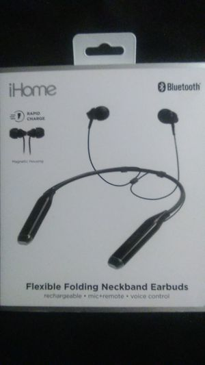 IHome Flexible Folding Neckband Earbuds for Sale in Orlando, FL