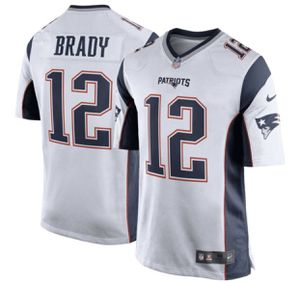 New England Patriots Youth Nike Stitched Tom Brady #12 White Jersey Small for Sale in Glendora, CA