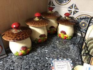 Mushroom set for coffee sugar for Sale in Glenvar Heights, FL