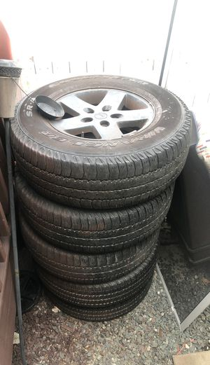 """Jeep 17"""" stock tires for Sale in Pawtucket, RI"""