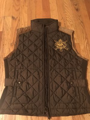 Brown quilted Ralph Lauren vest for Sale in Manassas, VA