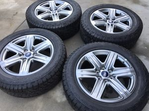 275/55/20 Ford F-150 rims tires wheels like new factory original set for Sale in Rolling Hills Estates, CA