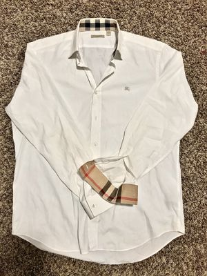 Lrg white BURBERRY BRIT button up for Sale in Seattle, WA