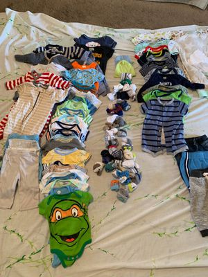 Baby clothes newborn, 0-3, and 3-6 months !! All different brands and plenty more than shown ! for Sale in Pittsburgh, PA