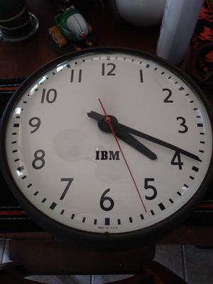 Vintage IBM Glass Front Clock made in the US for Sale in Clovis, CA