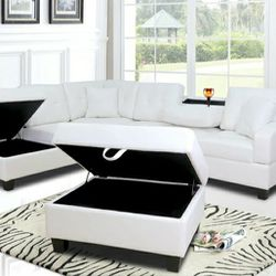 Pablo White Sectional 👉SAME DAY DELIVERY for Sale in Arlington,  VA