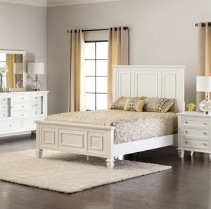 Sandy Beach Queen Bedroom Set (Plus Desk and Shelf) for Sale in Rancho Cucamonga, CA