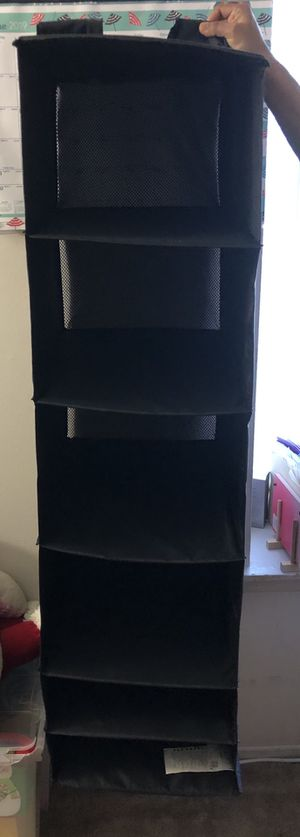 Fabric Closet Hanging Organizer with hanger for Sale in Livonia, MI