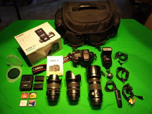 Canon EOS 7D complete camera bag for Sale in Tampa, FL