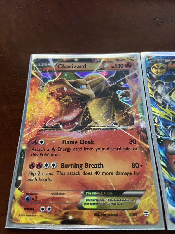 Charizard Ex And Mega Form Pokémon Card