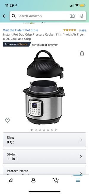 Instant Pot Duo Crisp Pressure Cooker/Air Fryer for Sale in Chesterfield, MO