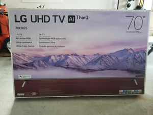 """LG 70"""" UHD thin Q AI for Sale in Dunstable, MA"""