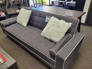 Grey Futon Bed with Pillows, 7567 for Sale in Downey, CA