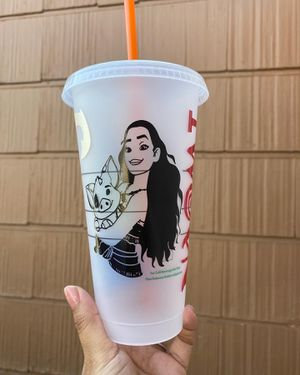 Moana hay hay Starbucks customized cups for toddlers for Sale in Ontario, CA