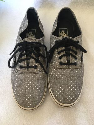 VANS Grey and White Polka Dot Low top 7.5 for Sale in Hesperia, CA