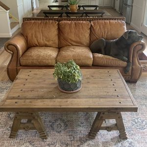 Genuine Leather Sofa $400 for Sale in Chesterfield, MO