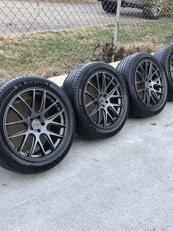 21x9.5 Axis Wheels & 275-45-21 Michelin Tires 5 LUG 5x112 BOLT PATTERN for Sale in Nashville,  TN