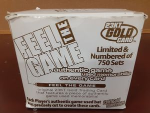 Feel The Game 23KT Gold Baseball Card Set for Sale in Goodyear, AZ