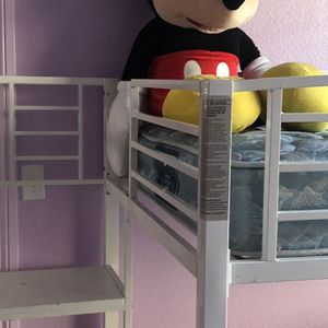 Still available bunk bed (metal) With mattresses -good shape or without mattress and sheets and comforters for Sale in Fresno, CA