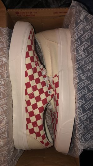 Vans Era CRFT podium checkerboard racing red for Sale in Hartford, CT