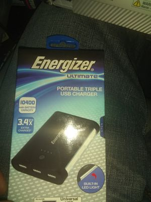 Energizer Ultimate Portable Triple USB Charger for Sale in Portland, OR