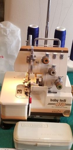 Baby LOCK 418 Serger Interlock Sewing machine Self threading Looper for Sale in Phoenixville,  PA