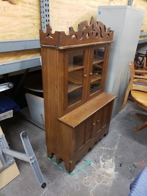 Handmade antique china cabinet or side storage for Sale in MONTGOMRY VLG, MD