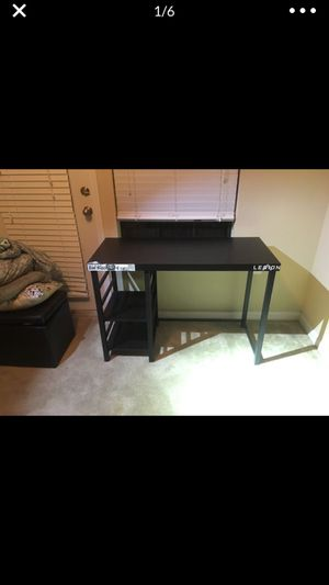 Tall black desk for Sale in Land O Lakes, FL