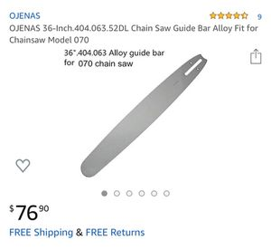 Chain saw guide bar for Sale in Bakersfield, CA