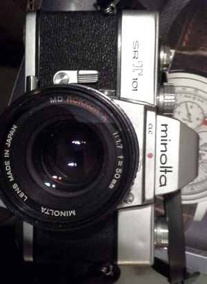 Minolta SRT101 35mm Camera Set with Lenses for Sale in Chino, CA