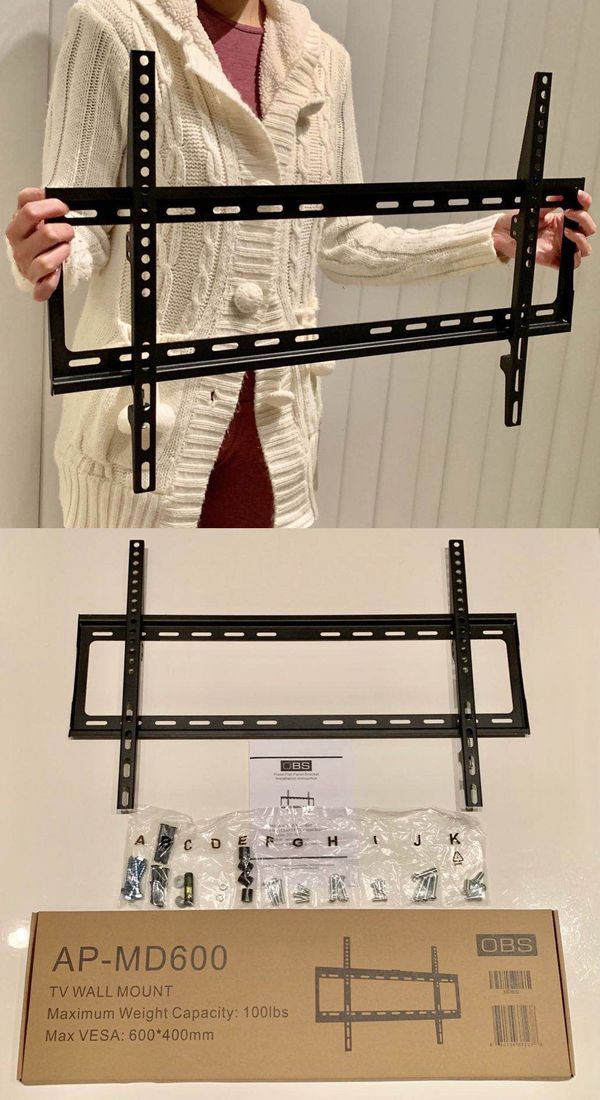 """New universal 32 to 65 inch LCD LED Plasma Flat Fixed TV Wall Mount stand 32 37"""" 40"""" 42 46"""" 47 50"""" 52 55"""" 60 65"""" inch tv television bracket 100lbs ca"""
