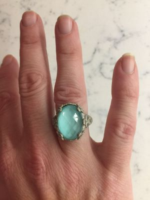 Gorgeous!! Judith Ripka Turquoise Doublet Ring from Flora Collection! for Sale in Westerville, OH