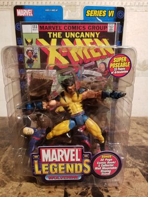 Marvel Legends Series VI Wolverine Unmasked Variant Action Figure Toy Biz with Comic Book for Sale in Florissant, MO
