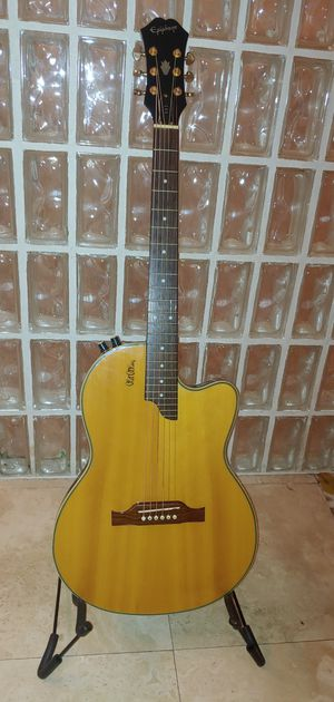 Epiphone Chet Atkins SST Acoustic/Electric Guitar + Gig Bag - Excellent Condition - $600 OBO for Sale in Tampa, FL
