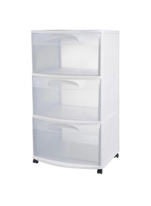 Sterilite Plastic 3 Drawer with detachable Wheels for Sale in Fremont, CA