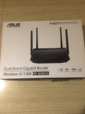 Asus Dual-Band 2x2 AC 1300 Super Fast Gigabit Router for Sale in Los Angeles, CA
