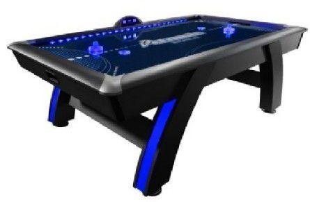 Atomic 7.5' Indiglo LED Light Up Arcade Air-Powered Hockey Table