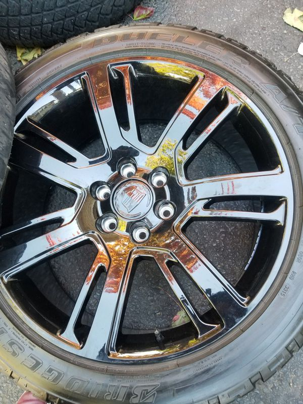 "22"" Cadillac Escalade black stock wheels tires LIKE NEW!"