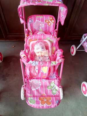 $25 double twin dolls and double doll stroller for Sale in Palmdale, CA