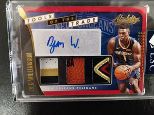 19-20 PANINI ABSOLUTE ZION WILLIAMSON ROOKIE PATCH TAG BALL AUTO 4/5 for Sale in San Antonio, TX